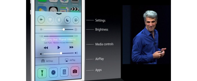 Il vero Control Center iOS7 di Apple, copiato su Android