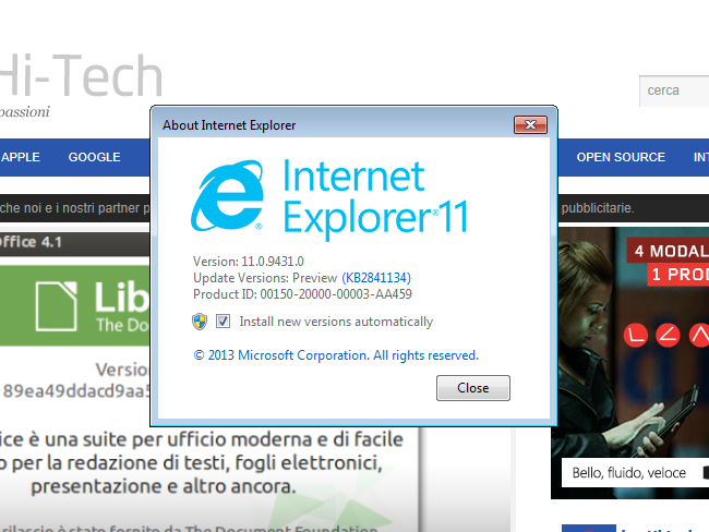 internet explorer 11 windows 7 Come disinstallare Internet Explorer 11