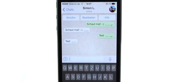 WhatsApp per iOS 7
