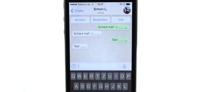 WhatsApp per iOS 7