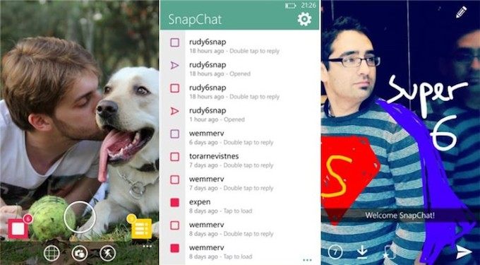 6snap, ora è possibile usare Snapchat su Windows Phone