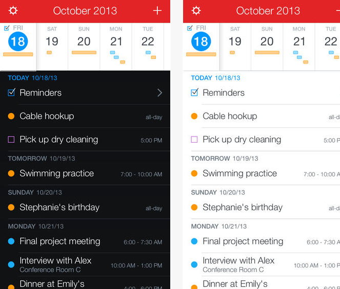 Fantastical 2 calendario app iOS