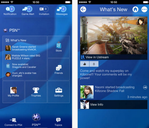 Sony PlayStation App PS4