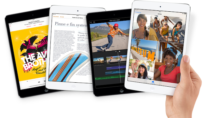 L'iPad Mini con display Retina è ora disponibile anche in Italia