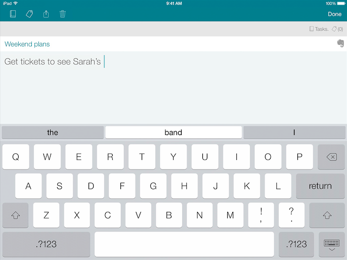 SwiftKey Note iOS