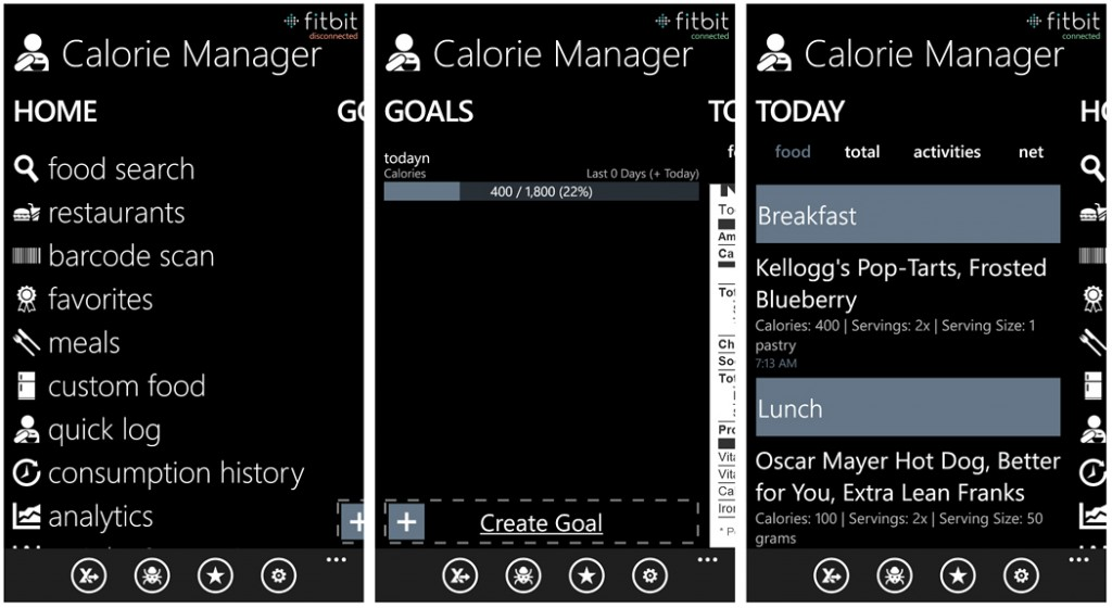 Calorie Manager