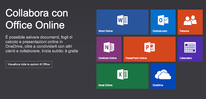 Microsoft Office Online Word Excel e PowerPoint sul Web Office Online è il nuovo nome delle Office Web Apps