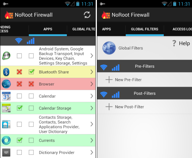 NoRoot Firewall Android
