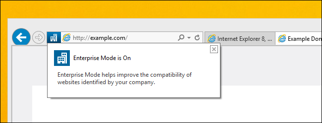 Enterprise Mode IE 11