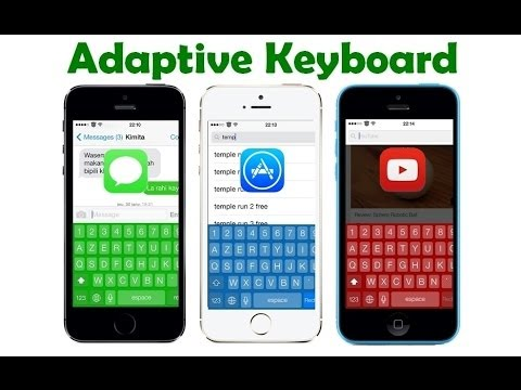 AdaptiveKeyboard iOS tweak