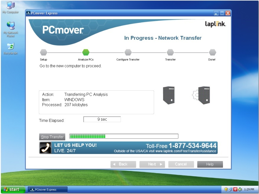 pcmover express per windows xp