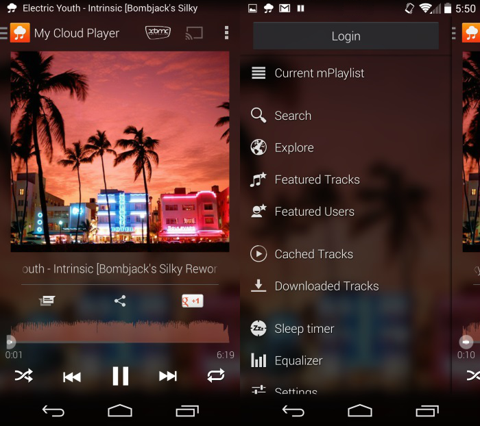 MyCloudPlayer My Cloud Player è un client per SoundCloud con supporto a ChromeCast e XBMC