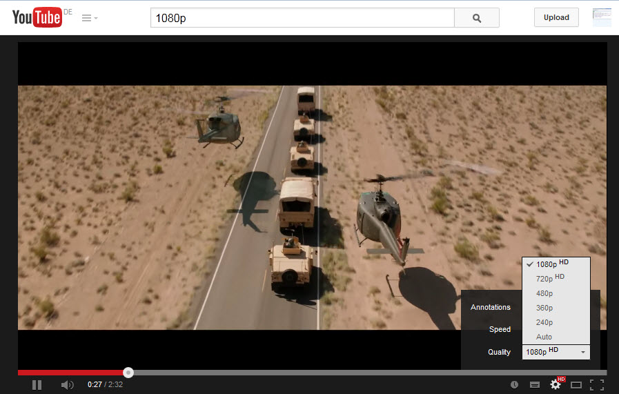 firefox youtube 1080p Come vedere i video di YouTube a 1080p con Firefox