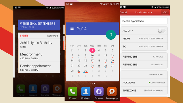 Month calendar widget Android