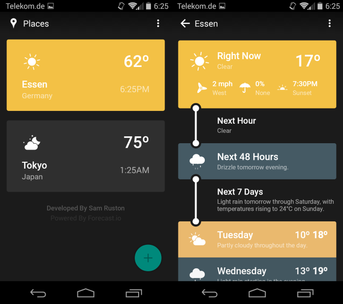 weather timeline forecast Weather Timeline Forecast è un'ottima app meteo per Android