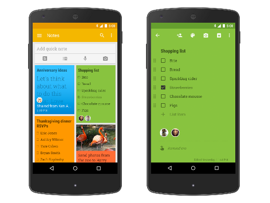 Google Keep update