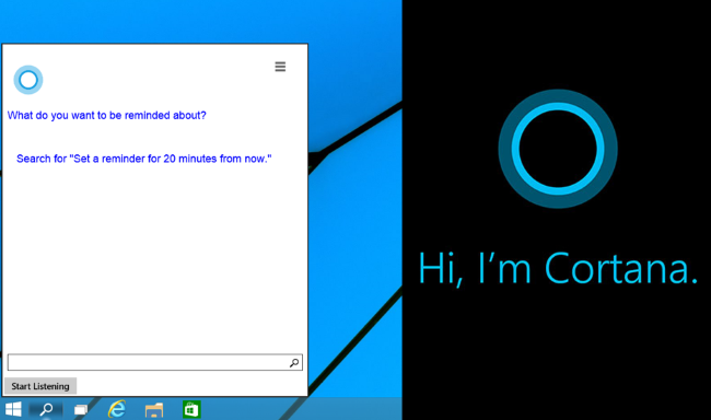 Cortana Windows 10 ricerca
