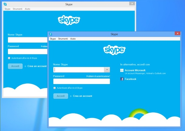 Come collegarsi con Skype con due account