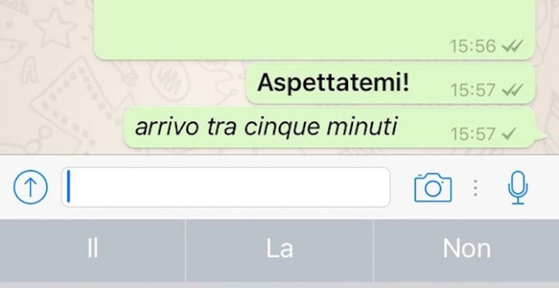 Come scrivere in grassetto corsivo su Whatsapp