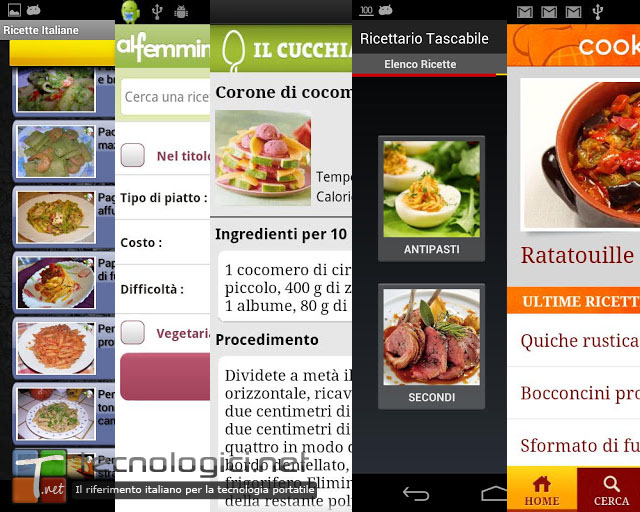 Android cucina