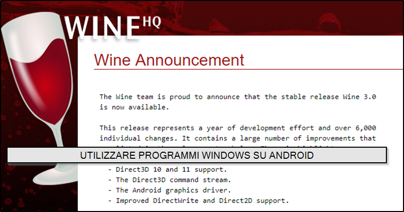 UTILIZZARE PROGRAMMI WINDOWS SU ANDROID CON WINE