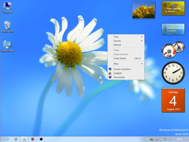 Gadget Windows 8