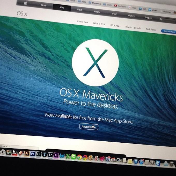 Apple: OS X Mavericks è sul 40% di tutti i Mac