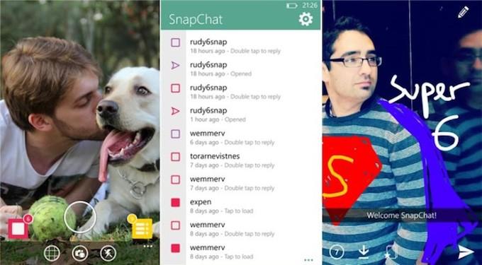 6snap, ora è possibile usare Snapchat su Windows Phone