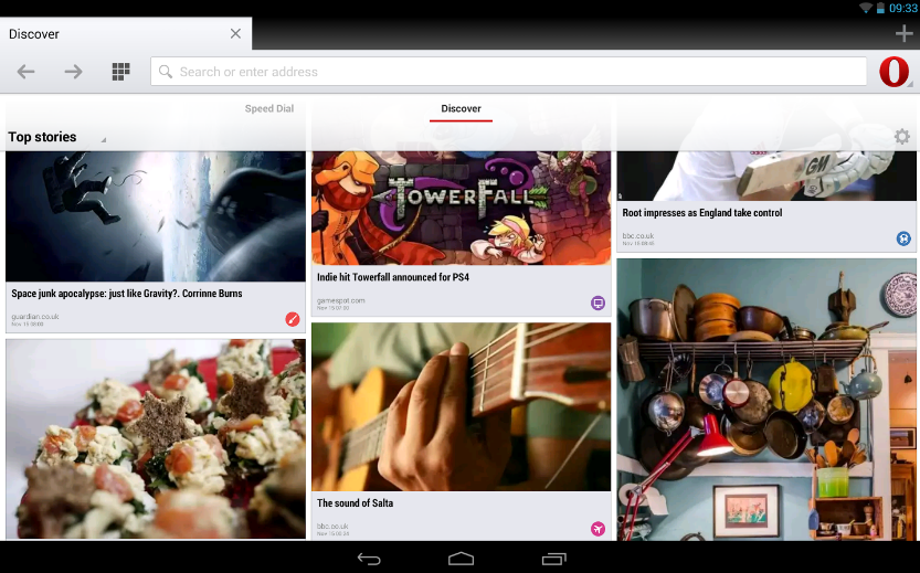Opera 18 browser Android