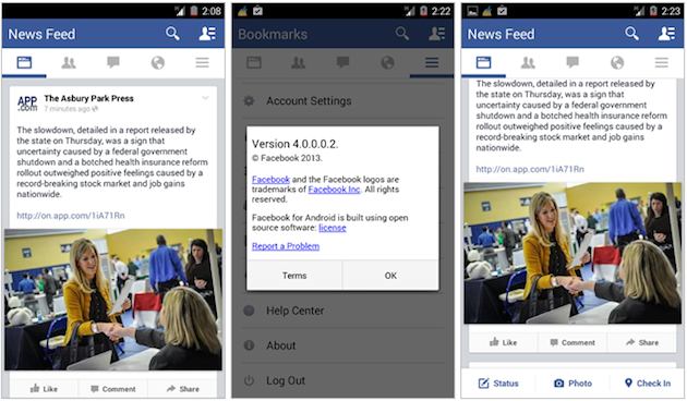facebook android 4.0