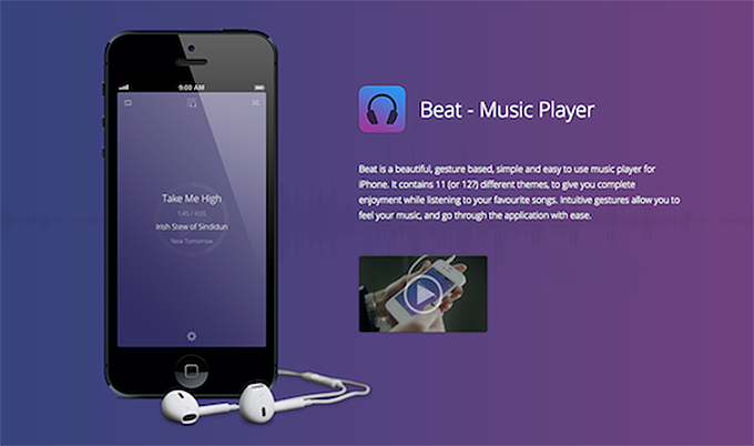 Beat Music Player iOS