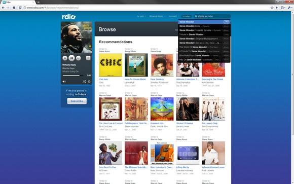 Rdio streaming gratis