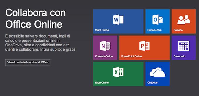 Office Online è il nuovo nome delle Office Web Apps