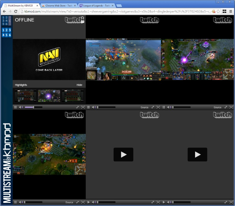 Multistream streaming Twitch