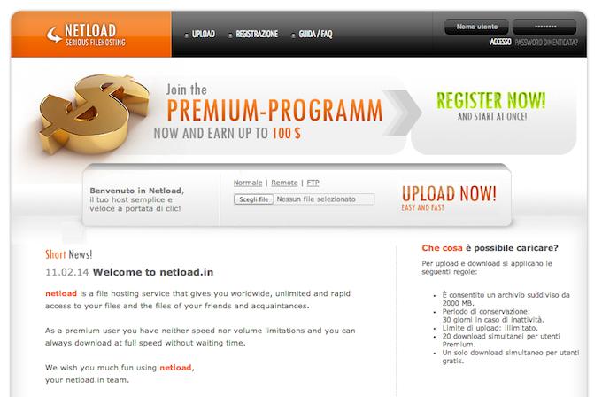 Come ottenere un account Netload Premium