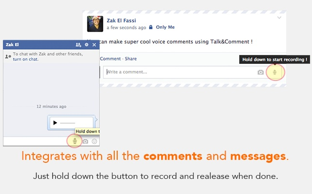 Talk and Comment Facebook