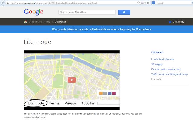 Maps Lite Mode