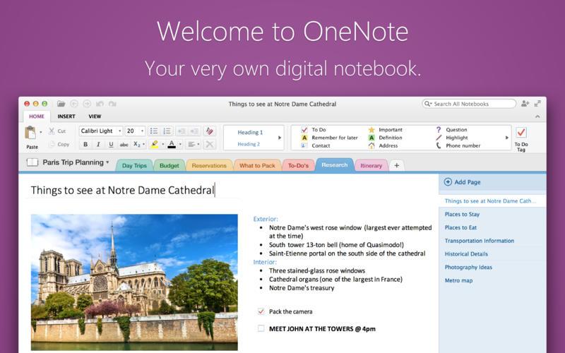 OneNote per Mac