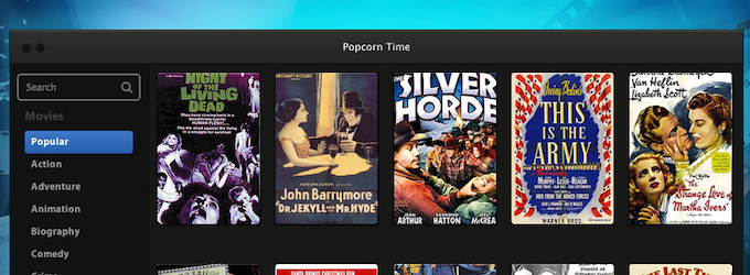 Popcorn Time, film pirata in streaming tramite BitTorrent