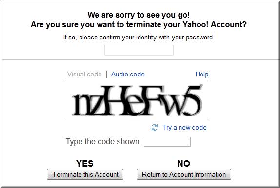 Eliminare account Yahoo!