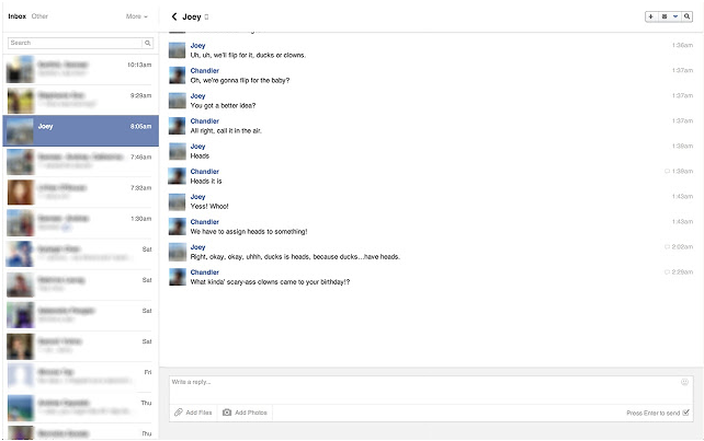 Facebook Chat Pop-Outs per Chrome