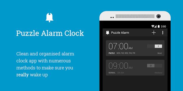 puzzle alarm clock Android.