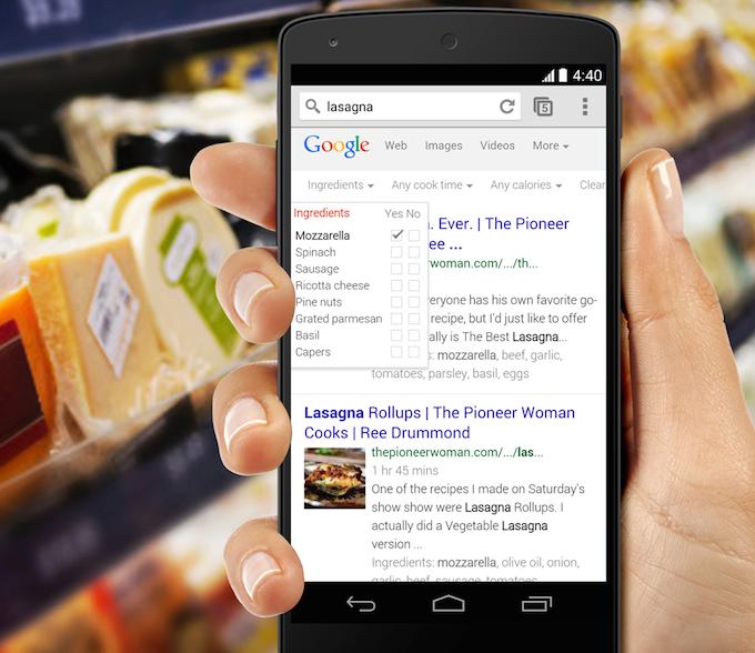 Google facilita la ricerca delle ricette