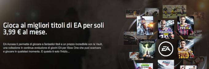 EA Access, l'esclusivo servizio per Xbox One per giochi in abbonamento