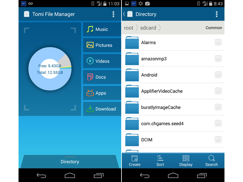 Tomi file manager Android