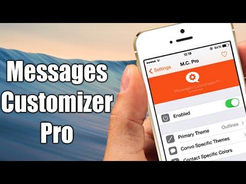 messages customiser pro