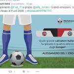 Renault e il live tweeting degli Europei di Calcio