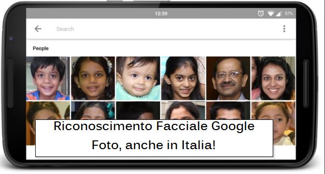 riconoscimento facciale Google Foto