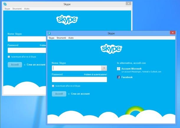 Come collegarsi con Skype con due account